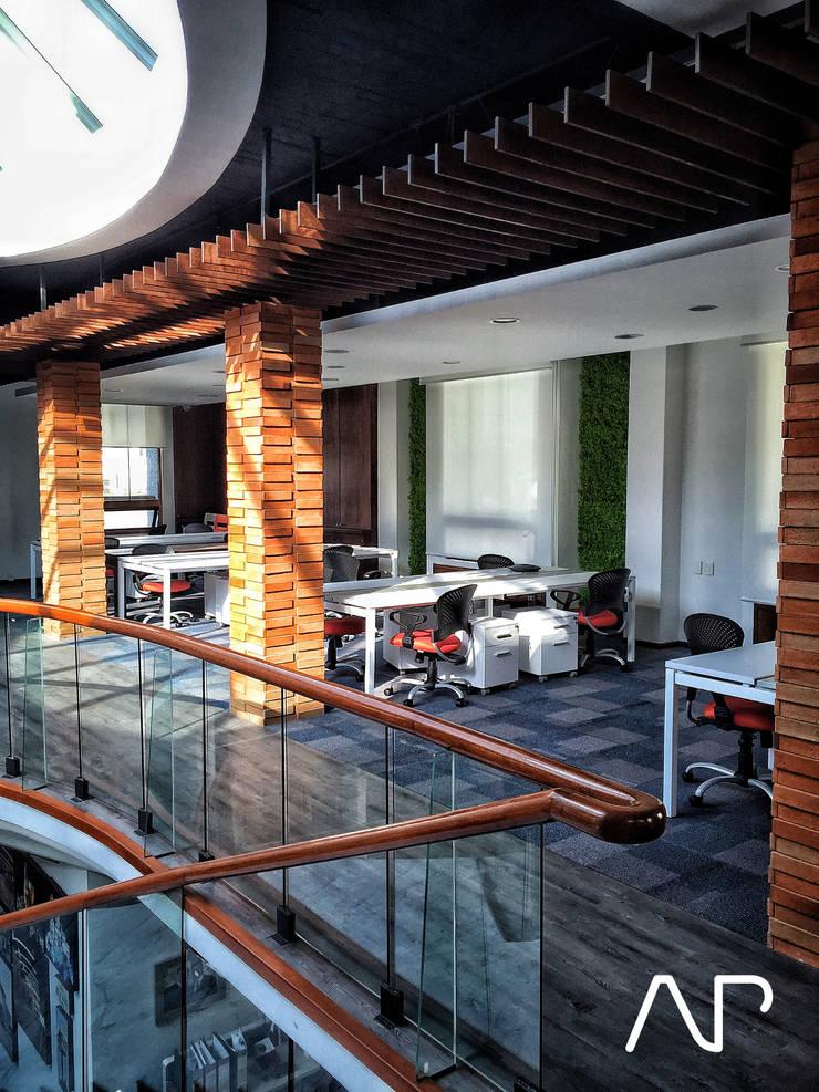 Oficinas Corporativas Distribuidora Grupo Modelo: Estudios y oficinas de estilo  por AP studioarq