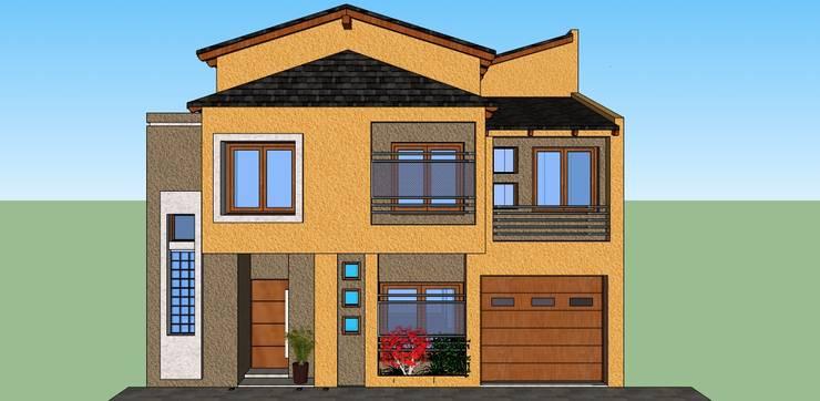 fachada:  de estilo  por LE PONT Estudio de Arquitectura e Ingenieria