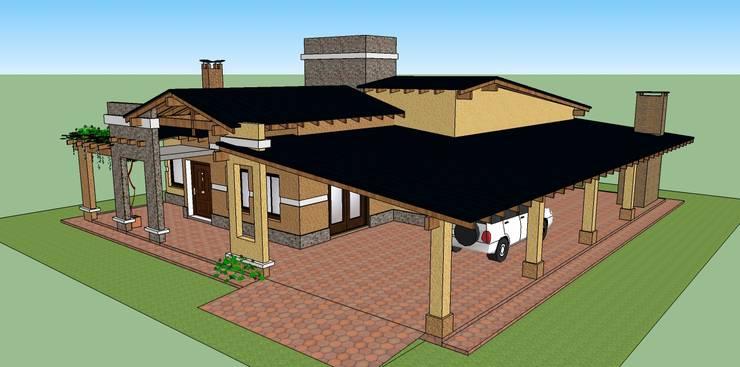 VIVIENDA FAMILIAR CRESPILLO:  de estilo  por LE PONT Estudio de Arquitectura e Ingenieria,Clásico