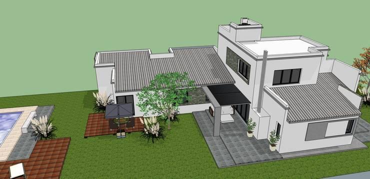 VIVIENDA FAMILIAR ALANIS de LE PONT Estudio de Arquitectura e Ingenieria Minimalista
