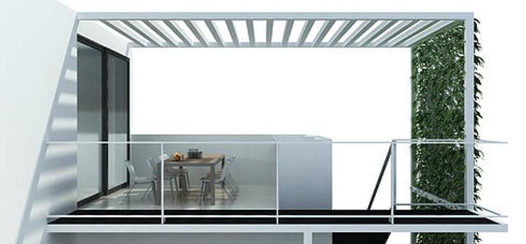 Projekty,  Jadalnia zaprojektowane przez 520 arquitectos