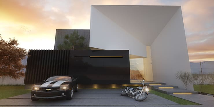 Vista Principal: Casas de estilo  por 21arquitectos