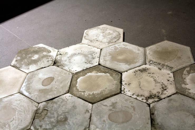 hexagon vintage: dcrete의  벽 & 바닥