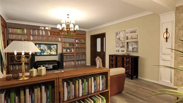Гостиная: Гостиная в . Автор – Студия дизайна Ирины Комиссаровой