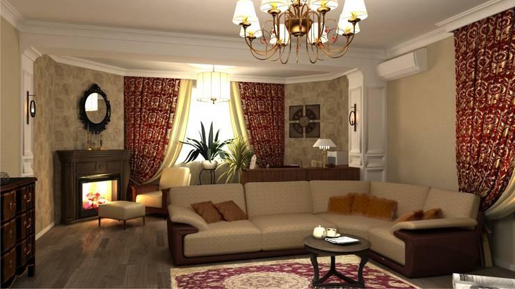 Гостиная.: Гостиная в . Автор – Студия дизайна Ирины Комиссаровой