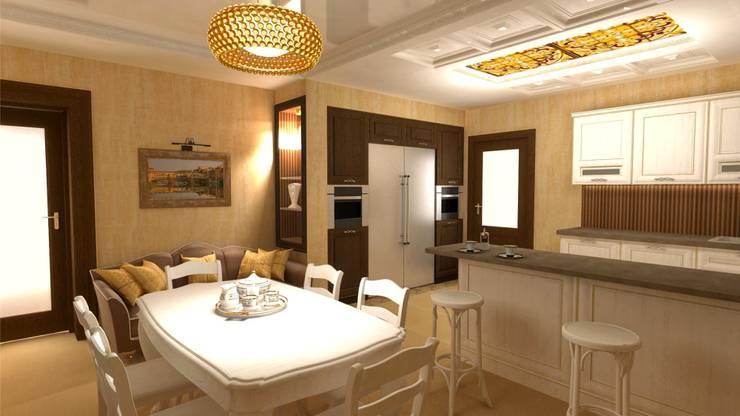 Кухня- столовая.: Столовые комнаты в . Автор – Студия дизайна Ирины Комиссаровой