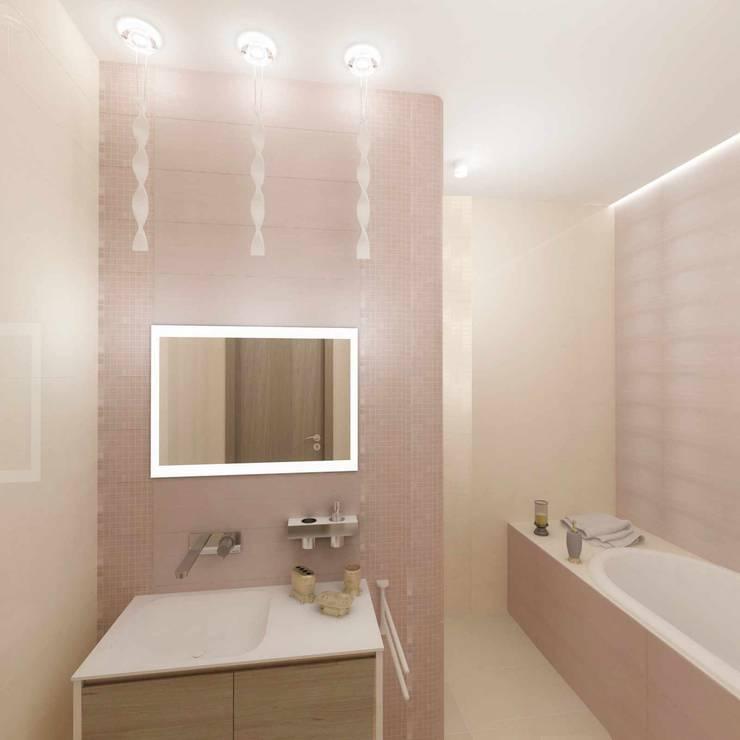 Камерная тональность.: Ванные комнаты в . Автор – Студия дизайна Ирины Комиссаровой