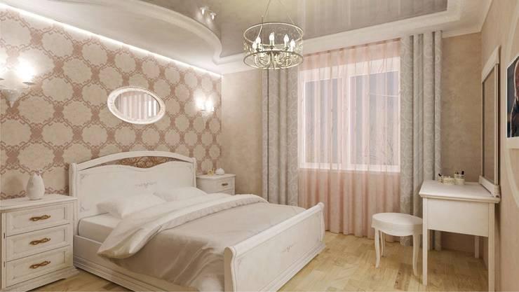 Классика на 50 метрах.: Спальни в . Автор – Студия дизайна Ирины Комиссаровой