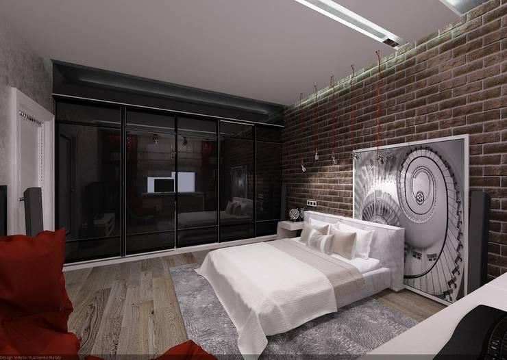 Комната для молодого парня: Спальни в . Автор – Студия дизайна Натали Хованской, Лофт