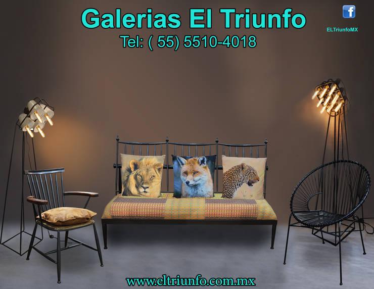 Galerías El Triunfo: Salas de estilo  por GALERIAS EL TRIUNFO SA DE CV