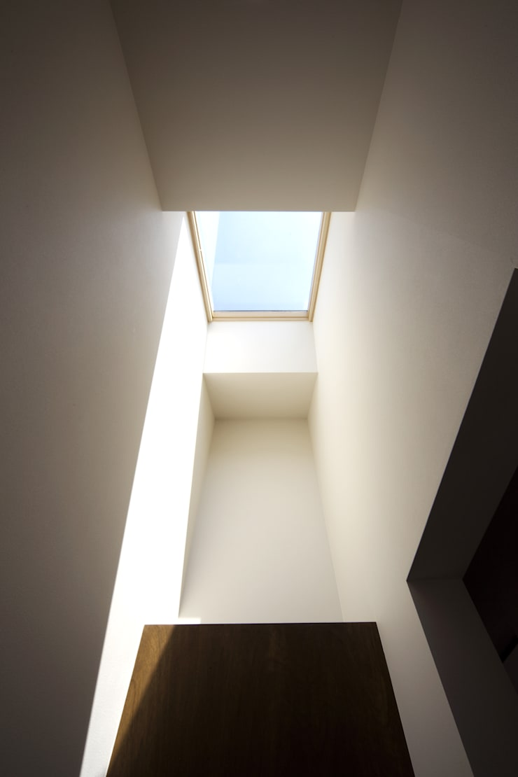 house in saitama ミニマルスタイルの 玄関&廊下&階段 の 株式会社廣田悟建築設計事務所 ミニマル
