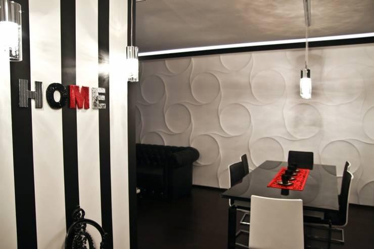 Panele gipsowe 3D Loft Design System, Dekory 21-30: styl , w kategorii Ściany zaprojektowany przez DecoMania.pl