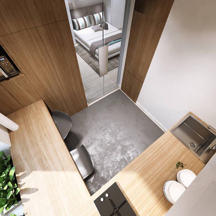 многофункциональные 33 кв.м: Кухни в . Автор – insdesign II