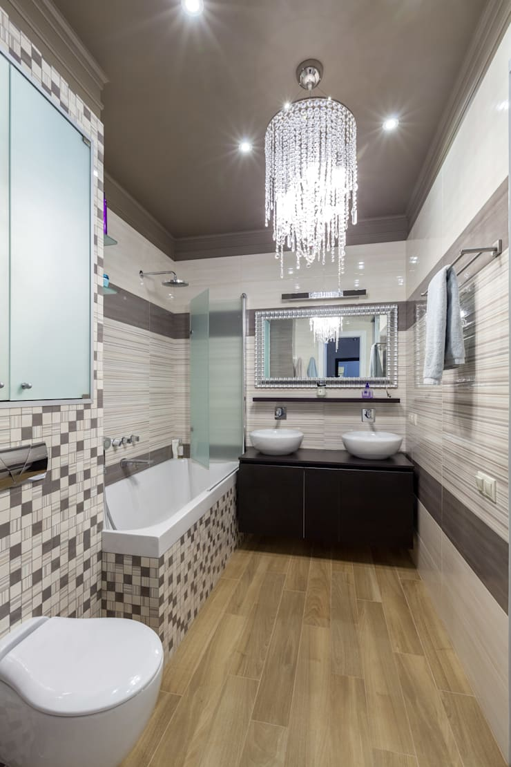 Двухуровневая квартира в стиле ар-деко: Ванные комнаты в . Автор – ARTteam