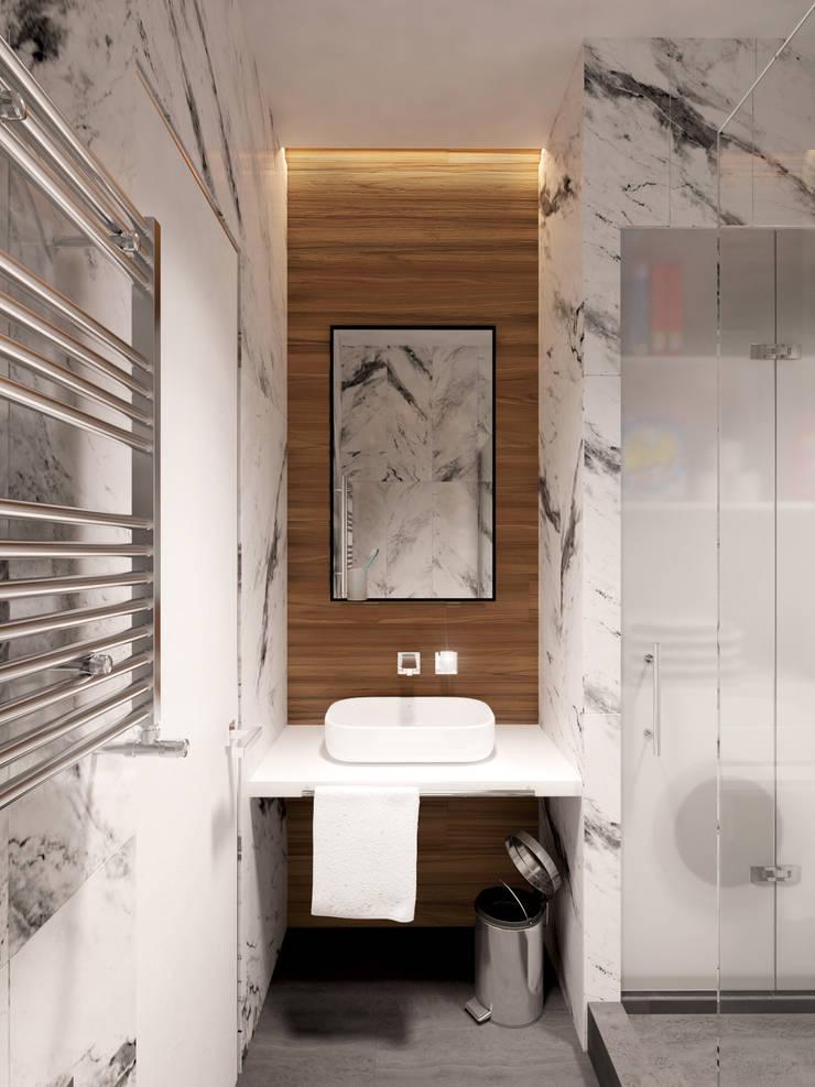 ЖК <q>Обыкновенное Чудо</q> на Мосфильмовской : Ванные комнаты в . Автор – Y.F.architects,