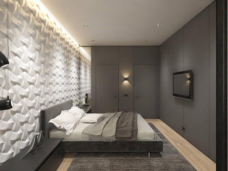 ЖК <q>Обыкновенное Чудо</q> на Мосфильмовской : Спальни в . Автор – Y.F.architects,