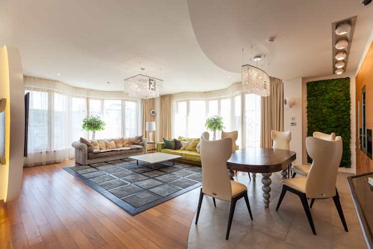 Квартира в современном стиле: Гостиная в . Автор – ARTteam,