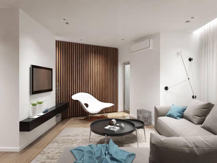 12 квартал: Гостиная в . Автор – insdesign II