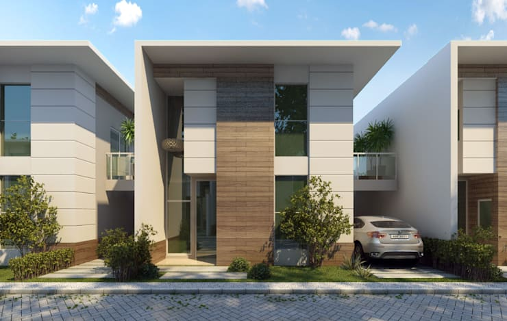 Casas de estilo moderno por MARCELO FRANCO ARQUITETOS ASSOCIADOS