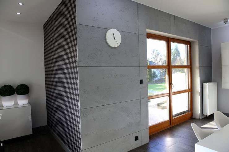 Płyty betonowe VHCT: styl , w kategorii Ściany zaprojektowany przez DecoMania.pl