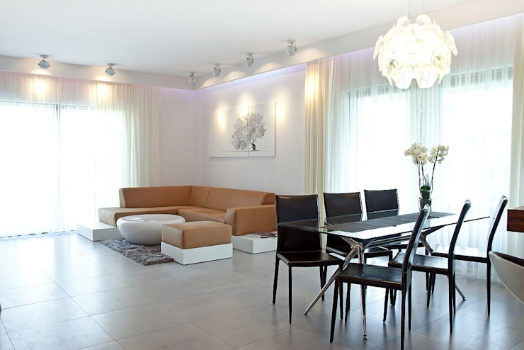 Salas de estilo  por Biuro Projektów MTM Styl - domywstylu.pl