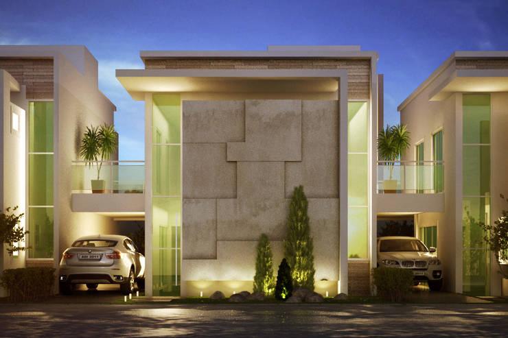 FACHADA: Casas  por MARCELO FRANCO ARQUITETOS ASSOCIADOS
