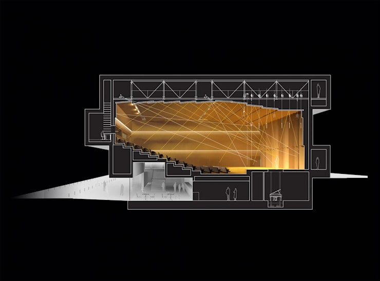 Sala koncertowa w Jastrzębiu: styl , w kategorii  zaprojektowany przez TOPROJEKT