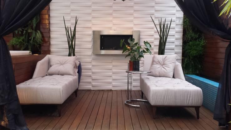 Спа в . Автор – Trends Casa Arquitetura e Design , Модерн Твердая древесина Многоцветный