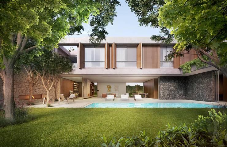 Projekty,  Domy zaprojektowane przez Mader Arquitetos Associados