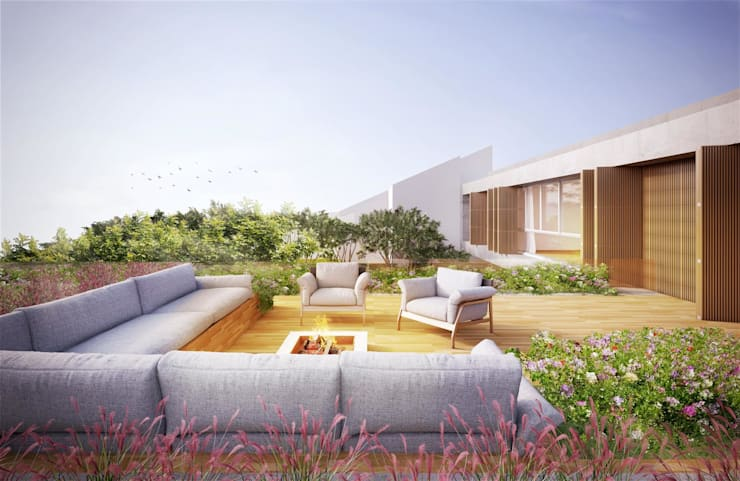 Casa H Terraço: Terraços  por Mader Arquitetos Associados