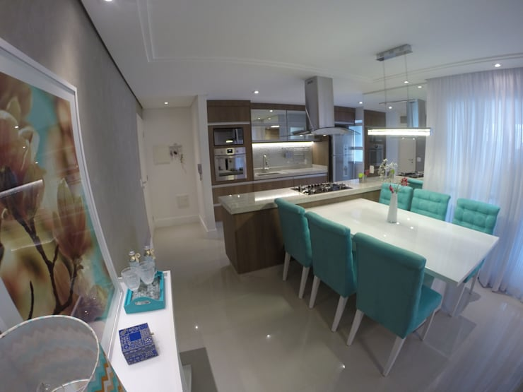 Cozinha Integrada: Cozinhas  por Padoveze Interiores