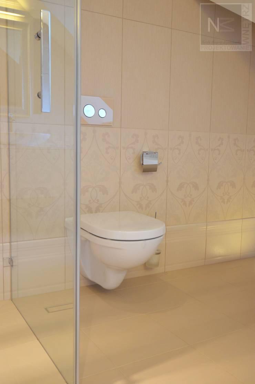 łazienka w beżach: styl , w kategorii Łazienka zaprojektowany przez Suare Studio  Natalia Margraf-Wojciechowska,Klasyczny