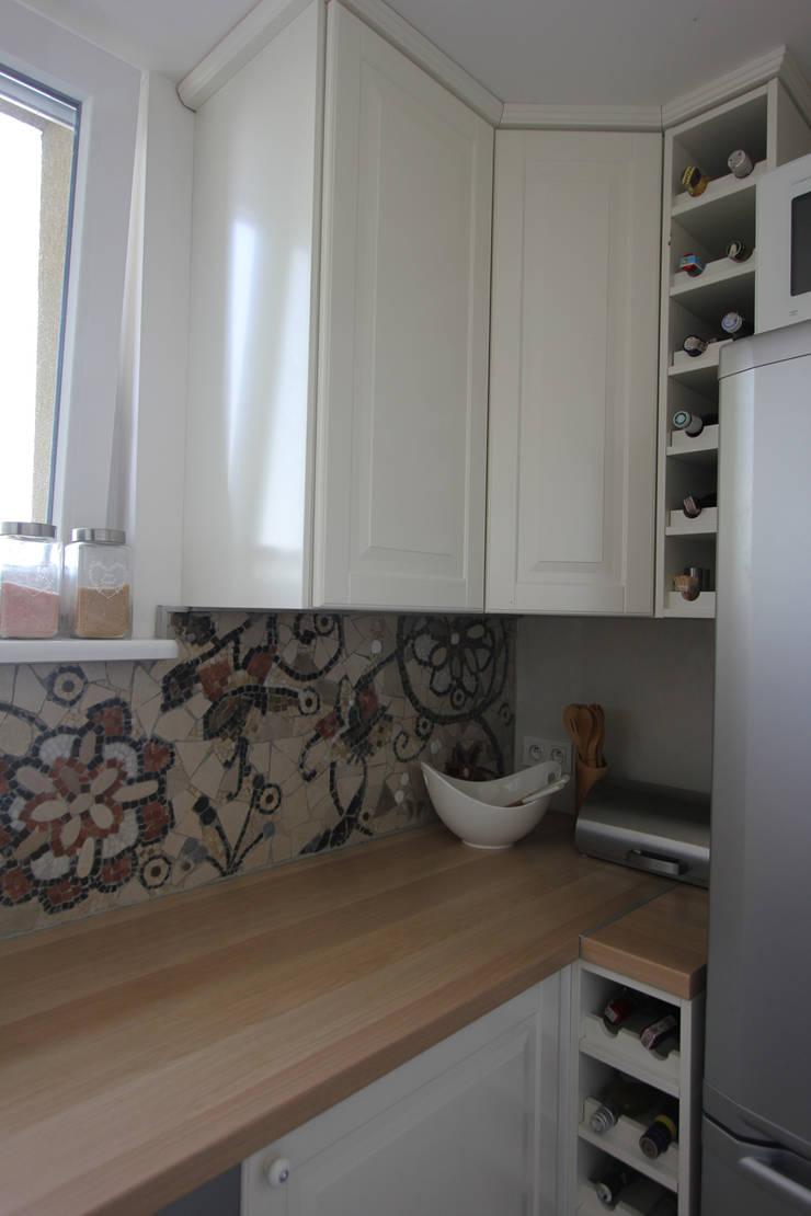 MIESZKANIE MOZAIKOWE W TYCHACH: styl , w kategorii Kuchnia zaprojektowany przez Architektura Wnętrz Magdalena Sidor,Nowoczesny