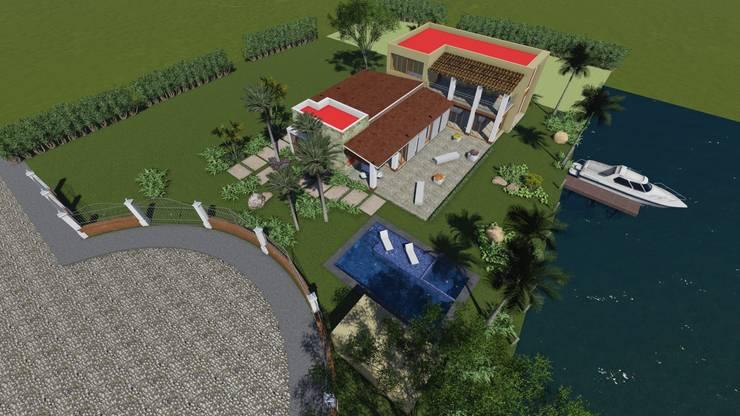 residencia en nvo. Vallarta Nayarit: Casas de estilo  por unounoarquitectos