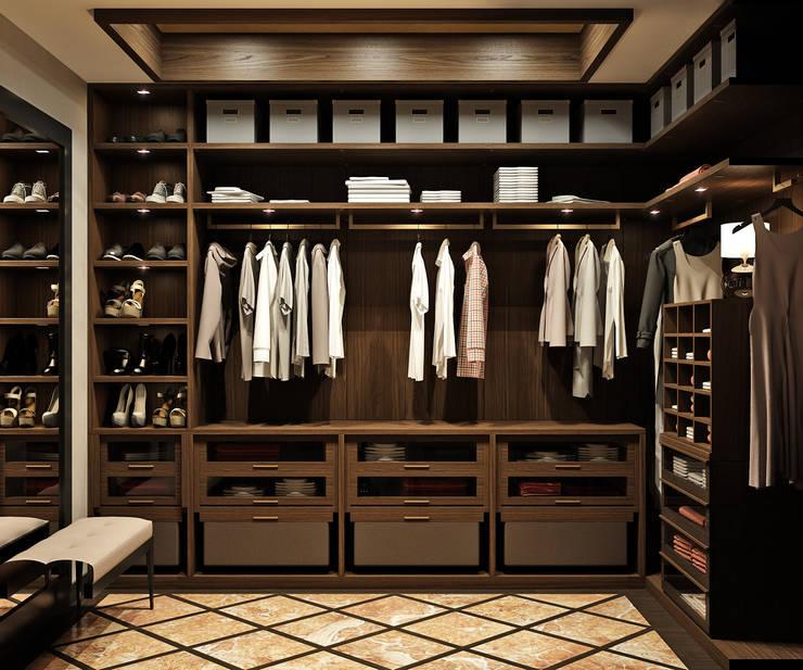 Vestidores y closets de estilo  por Rash_studio