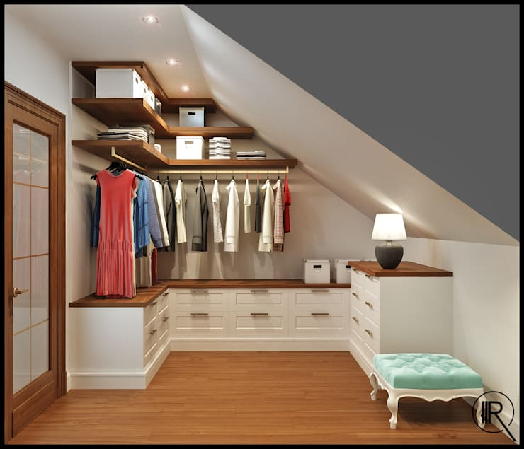 Walk in closet de estilo  por Rash_studio