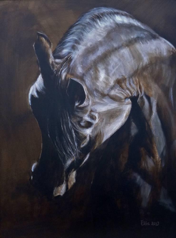 SHY:  Kunst  door Paardenschilderij - Ellie Schrotenboer