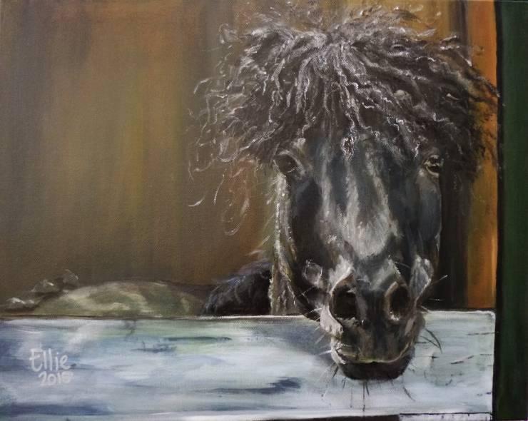 DOERAK:  Kunst  door Paardenschilderij - Ellie Schrotenboer