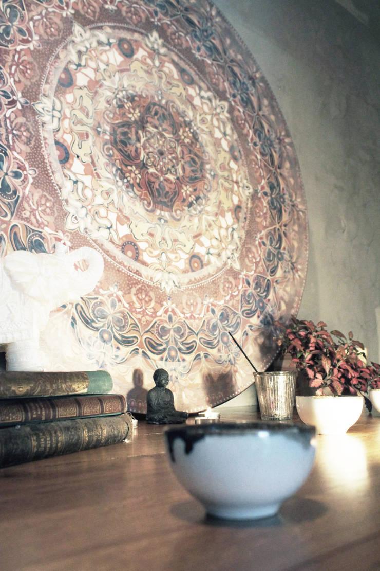mandala: styl , w kategorii Ściany i podłogi zaprojektowany przez szaro-biało,