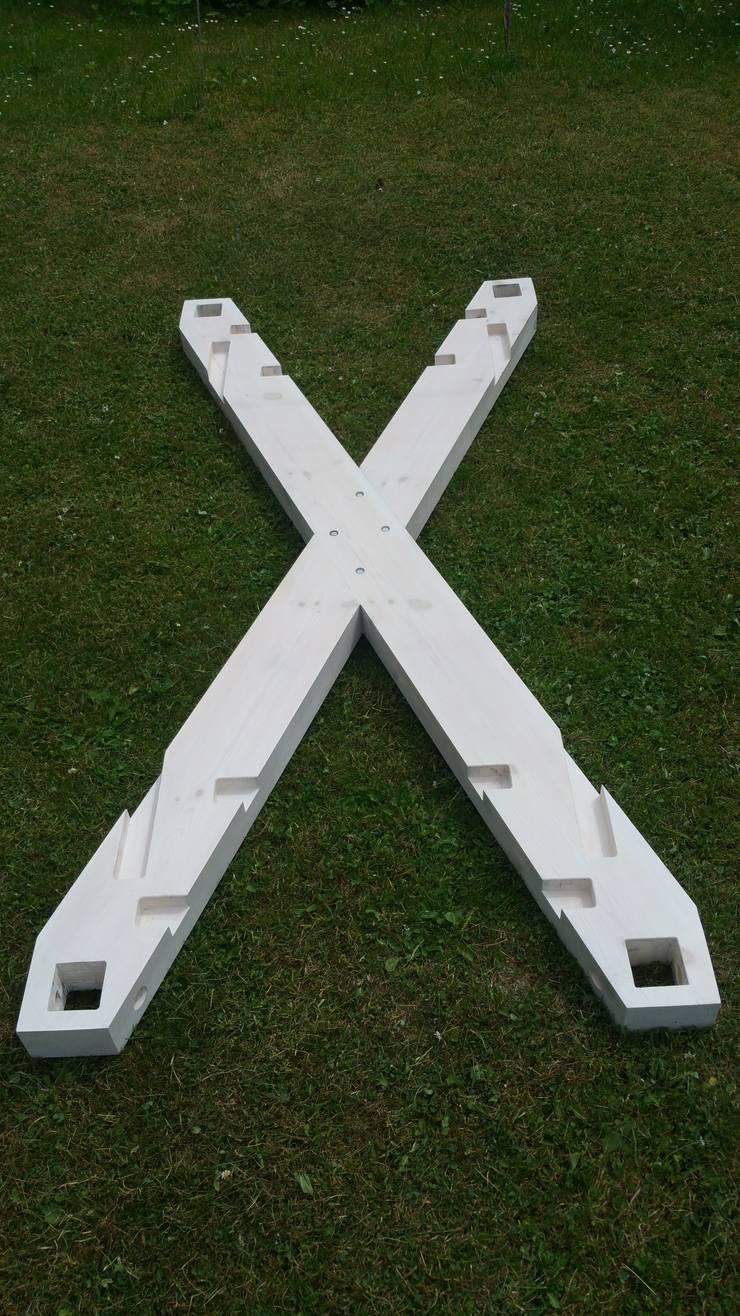 Wiszące łóżko - The X: styl , w kategorii  zaprojektowany przez Hanging beds,Minimalistyczny