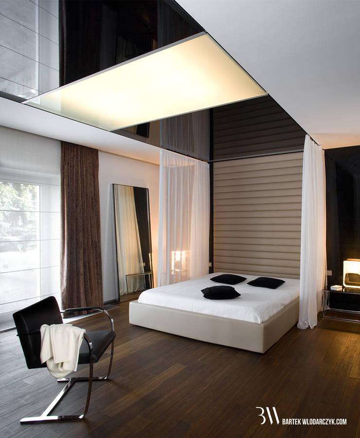 Minimalistische Schlafzimmer von Bartek Włodarczyk Architekt Minimalistisch