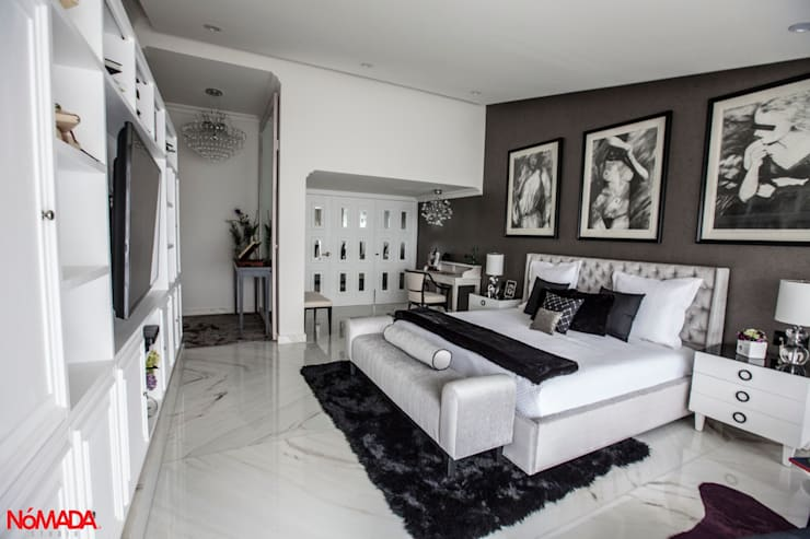 Casa Bosques de las Lomas, México Distrito Federal : Recámaras de estilo  por Nómada Studio