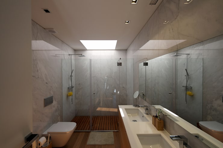 Bathroom by 3H _ Hugo Igrejas Arquitectos, Lda