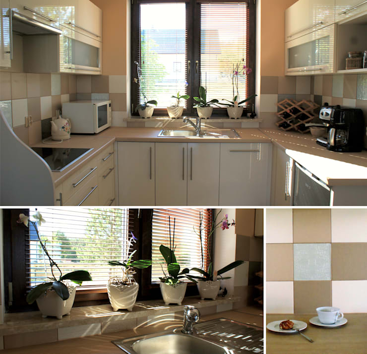 Kitchen in beige: styl , w kategorii Kuchnia zaprojektowany przez Drob Design ,Śródziemnomorski
