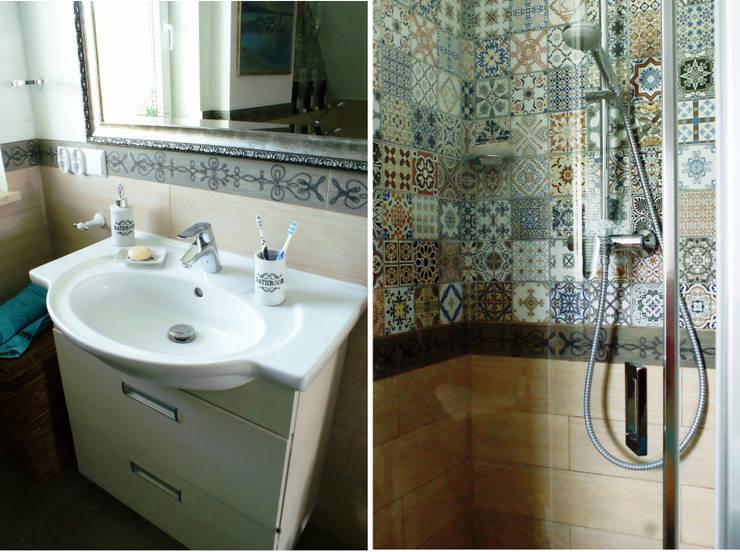 Bathroom in Second floor - shower and washbasin: styl , w kategorii Łazienka zaprojektowany przez Drob Design ,Śródziemnomorski