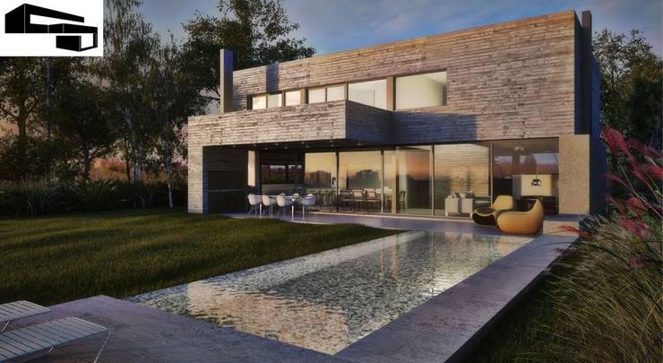 CASA JJ: Casas de estilo moderno por A + R