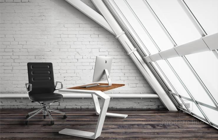 Stół Gravity: styl , w kategorii Domowe biuro i gabinet zaprojektowany przez Modern Line,
