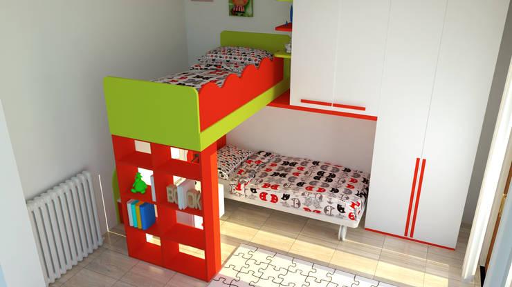 Camera bambini: Stanza dei bambini in stile  di OGARREDO