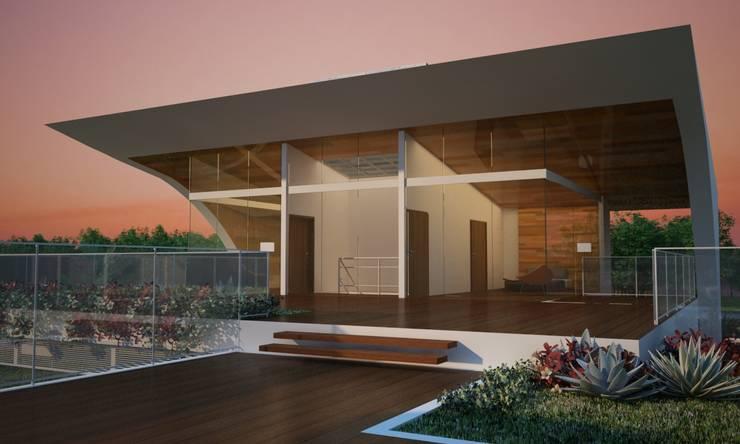 Casa W.A - Contagem - MG: Casas  por Vale Arquitetura