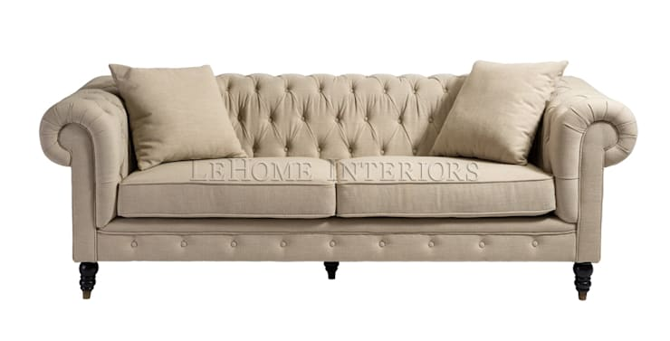 Диван Chester House Sofa Beige S011: Гостиная в . Автор – LeHome Interiors